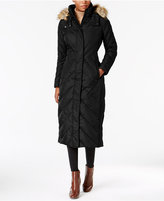 Larry Levine Faux-Fur-Trim Down Maxi Coat