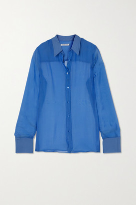 Georgia Alice Silk-chiffon Shirt - Blue