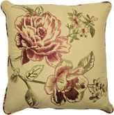 Waverly Floral Cordial Embroidery Square Decorative Pillow
