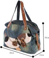 Genda 2Archer Women Denim Messenger Handbag Shoudler Bag Tote Doggie Style