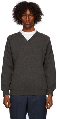 Comme des Garçons Homme Deux Grey Lochaven Of Scotland Edition Sweater
