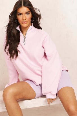 boohoo Mix and Match Half Zip Sweater