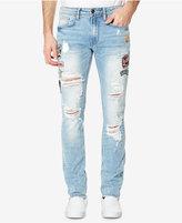 Buffalo David Bitton Men's Light Blue Ripped Patch Jeans