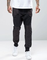 Boy London Cuffed Joggers With Logo Panel