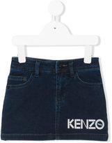 Kenzo logo print skirt