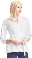 Gap Poplin pleat tie shirt