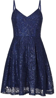 Yumi Sequin Lace Sleeveless Dress