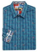Robert Graham Big & Tall Temple Bar Long Sleeve Sportshirt