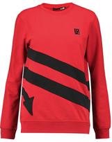 Love Moschino Appliquéd Cotton-Blend Jersey Sweatshirt
