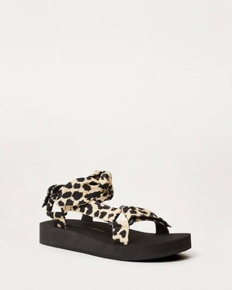 Loeffler Randall Maisie Sporty Sandal Leopard