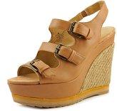 Nine West Wixsono Women US 8 Tan Wedge Sandal