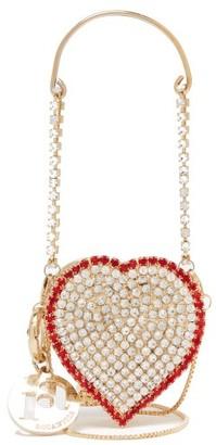 Rosantica Baby Heart Mini Crystal-embellished Bag - Crystal