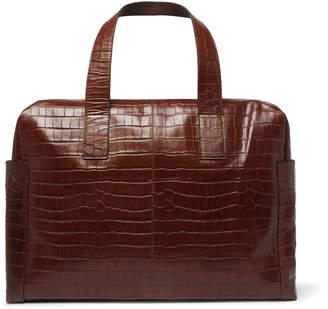 Dries Van Noten Croc-Effect Leather Holdall
