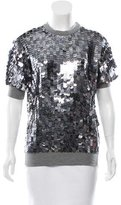 Adam Embellished Short Sleeve Top w/ Tags