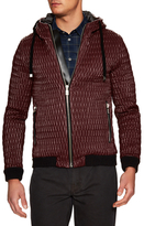 Coated Quilt Hoodie Sports Jacket