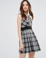 Wal G Skater Dress In Check Print