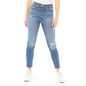 Levi's Womens Wedgie Skinny Ankle Length Jeans Pacific Waves
