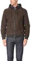 Vince Nubuck Hooded Jacket