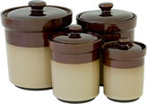 Asstd National Brand Sango Nova 4-pc. Ceramic Canister Set