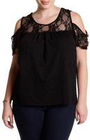 Loveappella Cold-Shoulder Tee (Plus Size)