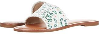 Jack Rogers Sofia Slide (White Daisy/White) Women's Shoes