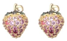 Noir Pink Cubic Zirconia Strawberry Stone Earring