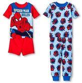 Marvel Spiderman Toddler Boys' 4-Piece Pajama Set Red