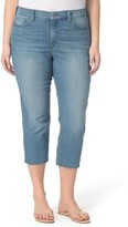 NYDJ Plus Size Women's Marilyn Stretch Slim Crop Jeans