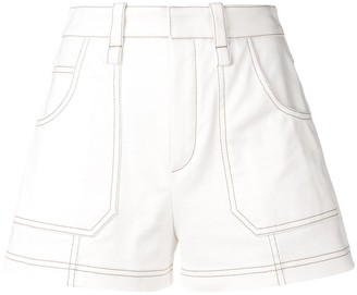 Chloé Contrast Piping Shorts