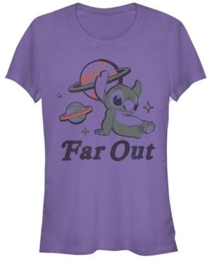 Fifth Sun Women's Disney Lilo Stitch Far Out Stitch Short Sleeve T-shirt