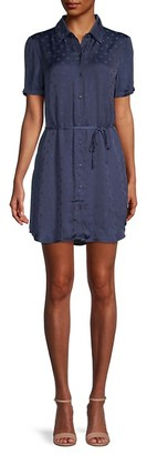 BB Dakota Dot It Right Jacquard Polka Dot Shirtdress