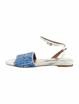 Tabitha Simmons Leather Ankle Strap Sandals White