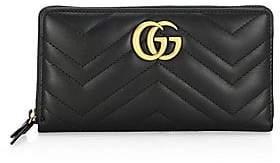 Gucci Women's Quilted Chevron Long Zip-Around Wallet