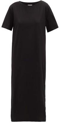 Moncler Press-stud Cotton Dress - Black