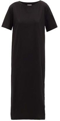 Moncler Press-stud Cotton T-shirt Dress - Black