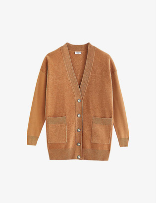 Claudie Pierlot Millo oversized knitted cardigan