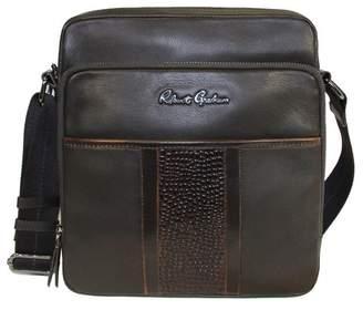 Robert Graham Gale Slim Leather Day Messenger Bag