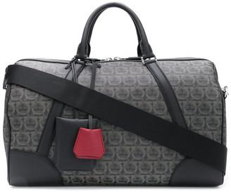Salvatore Ferragamo Leather Gancini Weekender Bag