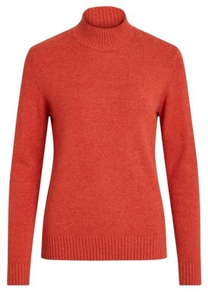 Dorothy Perkins Womens Vila Red High Neck Knit Jumper, Red
