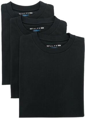 Alyx Pack of Three printed logo T-shirts