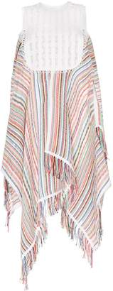 J.W.Anderson striped handkerchief hem dress