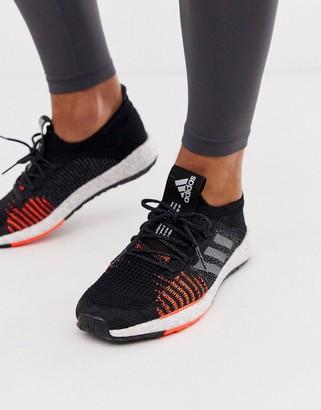 adidas pulse boost sneakers in black