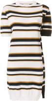 MAISON KITSUNÉ multi-stripe sweater dress