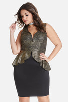 Fashion to Figure Gabrielle Shimmer Peplum Dress