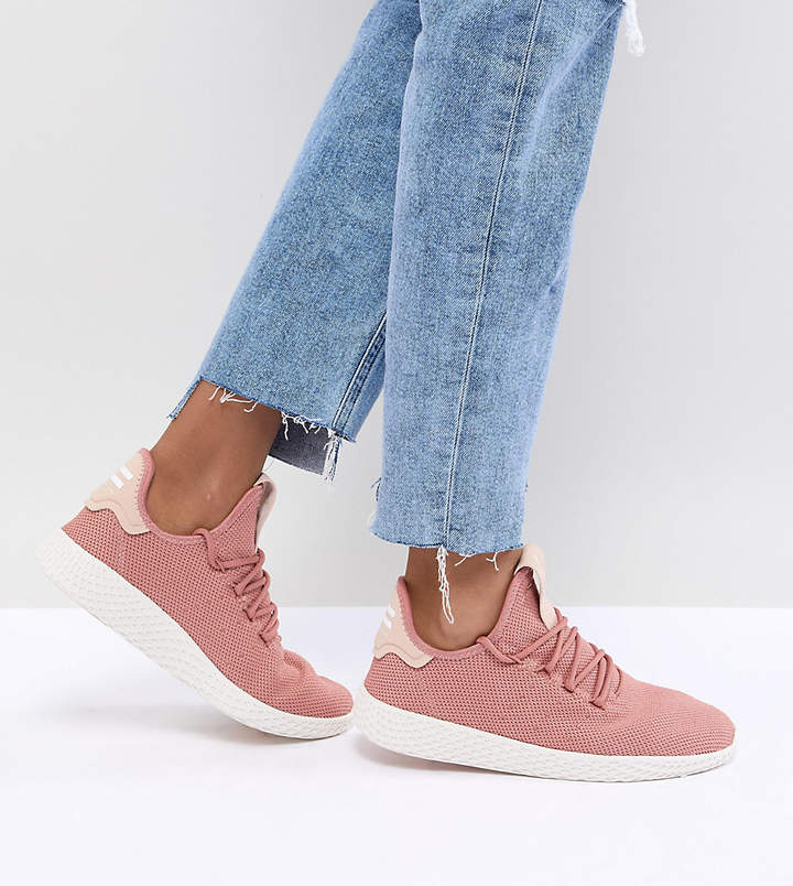 adidas Pharrell Williams Tennis Hu Trainers In Pink
