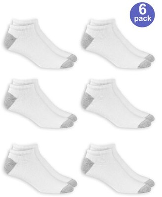 Athletic Works Men's No Show Socks 6 Pack