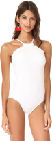 Kate Spade Scalloped High Neck One Piece