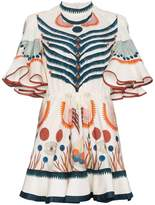 Chloé Folkloric Silk Georgette Minidress
