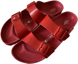 Valentino Red Leather Sandals