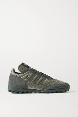 adidas Craig Green Kontuur Iii Embroidered Reflective Shell And Suede Sneakers - Gray